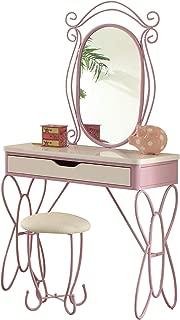 Acme Furniture 30539 Priya II Vanity Set, White & Light Purple