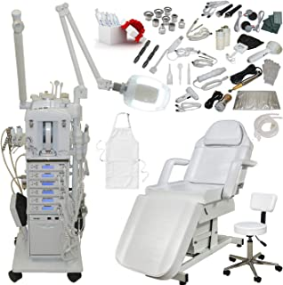 22 in 1 Elite Series Multifunction Diamond Microdermabrasion Facial Machine & Adjustable Electric Bed Table Chair