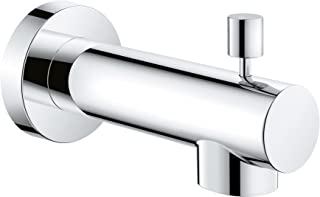 brushed nickel tub spout with handheld shower diverter
