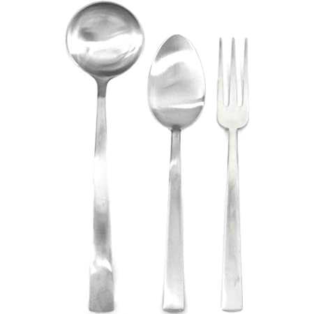 Mepra Levantina Ice 3 Piece Cake Serving Set Silver Finish Dishwasher Safe Cutlery Completer Serveware Sets Serving Sets