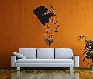 Ik58 Wall Decal Sticker Room Decor Wall Art Mural Profile of The Egyptian Queen Nefertiti Living Room Bedroom Interior