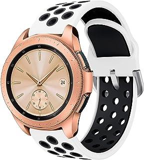 Compatible para Samsung Galaxy Active Correa 20mm Silicona Doble Color Correa de Reloj Pulsera de Reemplazo de Liberación Rápida para Galaxy Watch 42mm/Active Watch/Active 2 40mm/Active 2 44mm