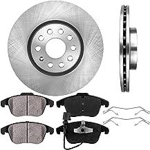 CRK11743 FRONT 312 mm Premium OE 5 Lug [2] Brake Disc Rotors + [4] Ceramic Brake Pads + Clips
