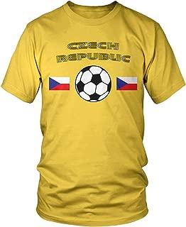 Amdesco Men's Czech Soccer, Ceska Czech Republic Football T-Shirt