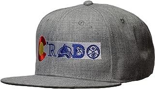 Colorado Flag Snap Back Hat. Crado Hat. Colorado Flag Sports Teams