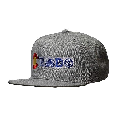 UNAMEIT Colorado Flag Snap Back Flat Bill Hat. Crado Hat. Colorado Flag  Sports Teams 20d9f99a16b2