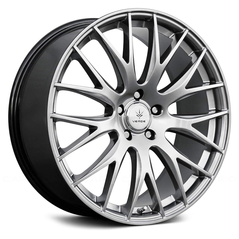 Verde Custom Wheels Saga Hyper Silver Dark Wheel with Painted Finish (17 x 7.5 inches /5 x 100 mm, 40 mm Offset)
