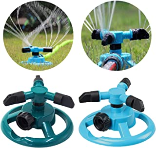 Garden Sprinklers Automatic Watering Grass Lawn 360 Degree Circle Rotating Water Sprinkler 3 Nozzles Three Arm Garden Pipe Hose,EU Type