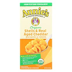 Annie's Macaroni and Cheese, Shells & Aged Cheddar Organic Mac and Cheese, 6 Ounce Box