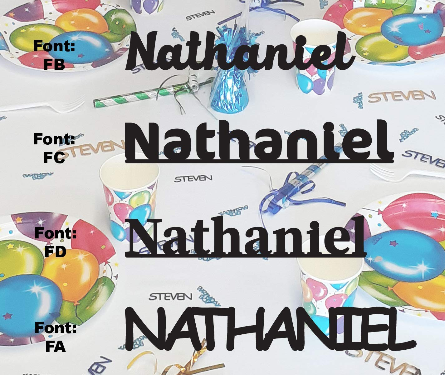 NATHANIEL lowest price - Name Confetti in Confet 12 Bargain Colors. Metallic Includes