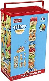 Jeujura - 8335- Jeux de Construction-Tecap Baril de Planchettes Color - 300 Pieces