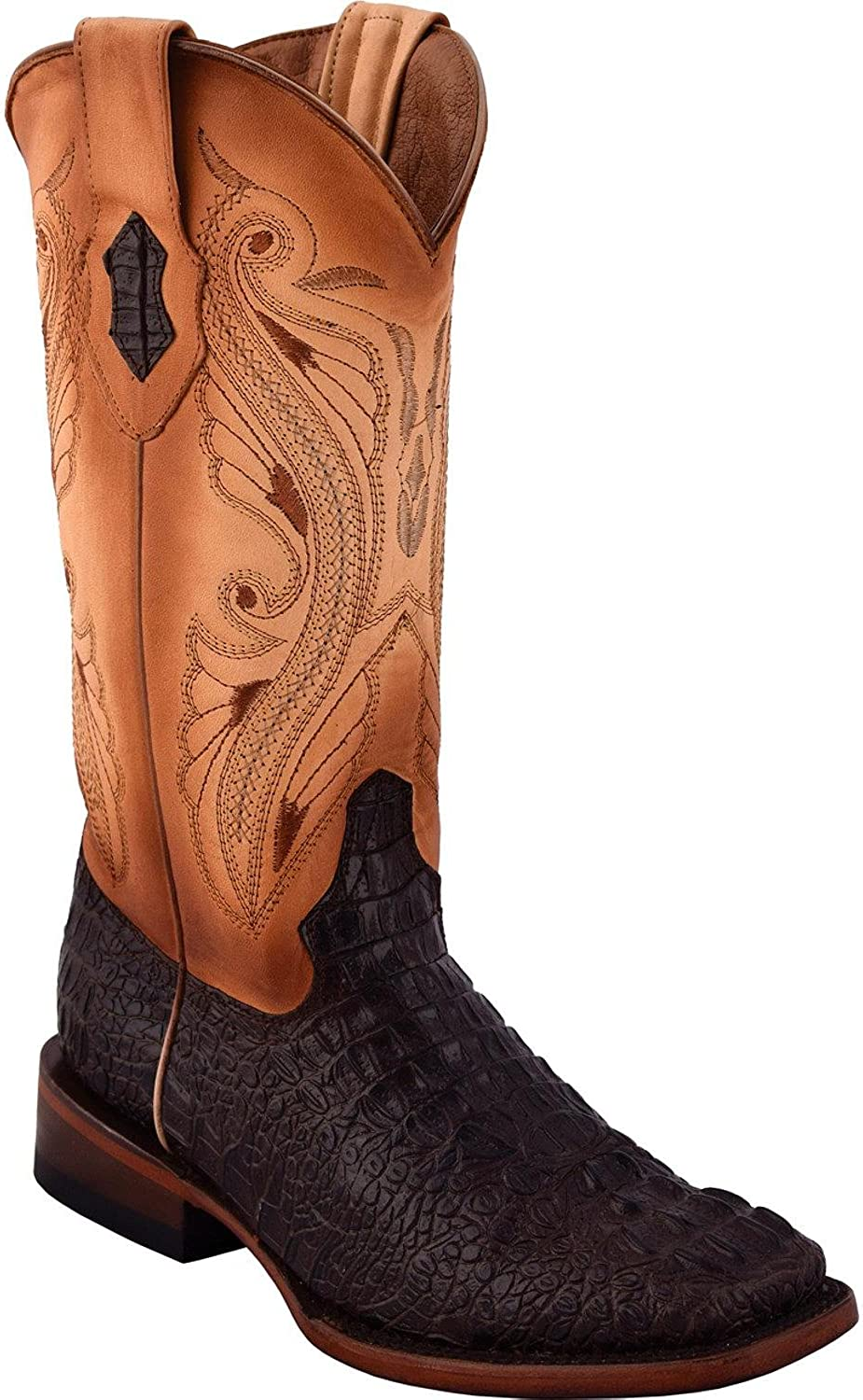 Ferrini Women's Caiman Print Cowgirl Boot Square Toe