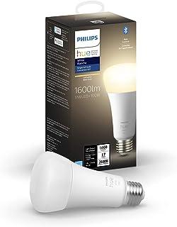 Philips Hue White A21 High Lumen Smart Bulb, 1600 Lumens, Bluetooth & Zigbee Compatible (Hue Hub Optional), Works with Ale...