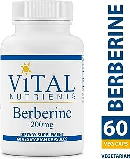 Vital Nutrients - Berberine 200 mg - Vegan Formula - Promotes Healthy Blood Sugar Levels, Regulates Bowel Function, Helps Maintain Normal Triglyceride Levels - 60 Vegetarian Capsules per Bottle