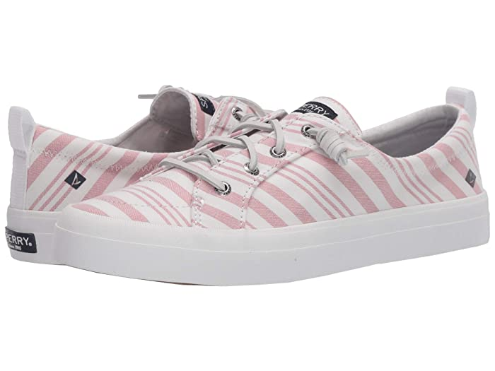 Sperry  Crest Vibe Beach Stripe (Coral/White) Womens Shoes