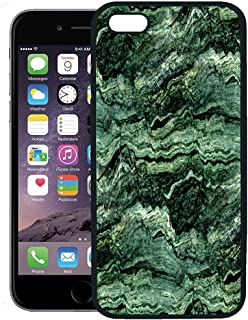 Semtomn Phone Case for iPhone 8 Plus case,Gray Agate Green Marble Abstract Dark Onyx Obsidian Closeup Curve iPhone 7 Plus case Cover,Black