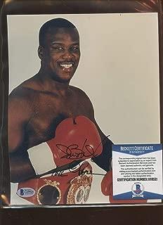 Autographed James Douglas Photo - Boxer 8 X 10 Beckett Cert - Autographed Boxing Photos