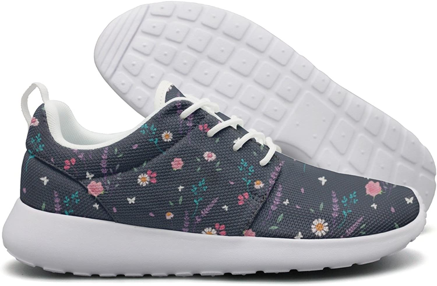 Hoohle Sports Pink Grey pinks and Daisy Womens Roshe One Flex Mesh Mens Lightweight Running shoes