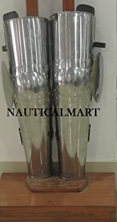 NAUTICALMART SCA Combat Medieval Armor Full Leg Guard with Couters