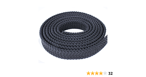 PolyPro Hollow Flat Braid Rope White Black Red Olive Drab Tan- Easy to Splice and Seal Hanks West Coast Paracord 1 Inch MFP Soft Flat Braid Brown