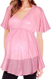 Maternity Women's Babydoll Semi Sheer Tunic Top Made in USA