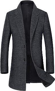 Men's Classic Single Breasted Wool Walker Coat Stylish Jacket 101219