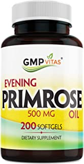 GMPVitas Evening Primrose Oil-Maintain Smooth-Healthy Looking Skin-Supports hormonal Balance-Supports hormo...