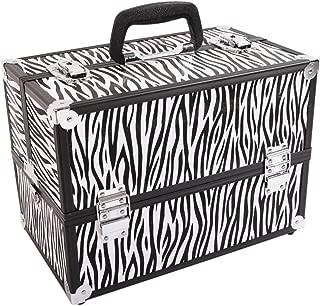 Makeup Train Cases Professional - Travel Makeup Case Cosmetic Cases Makeup Storage Organizer Portable Cosmetic Box Premium Beauty Cosmetic Storage Box(M-Zebra pattern)