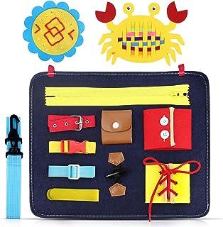 comprar comparacion aovowog Busy Board para Niños,Juguetes de Bebé Habilidades de Vida básicas Tablero,Juguetes Sensoriales Montessori para Be...