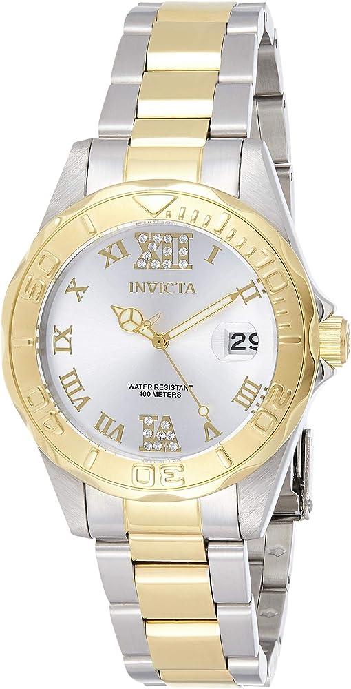 Invicta pro diver orologio da donna in acciaio inossidabile bicolore 12852