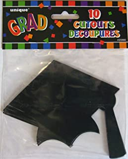 Graduation Cap Cutouts 10pk.