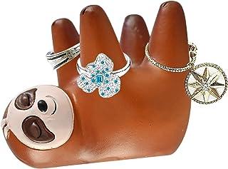 حامل خاتم حيوان الكسلان من هومي، حامل خاتم لطيف، صينية مجوهرات للنساء، إكسسوارات غرفة ديكور للفتيات للفتيات، هدية لمحبي حي...