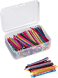200 Pieces Bobby Hair Pins Colorful Hair Pins Metal Hair Clips Hair Accessories Decorations with Clear Storage Box for Women and Girls by JCYL (200 PCS, Mixed Colors, 2.16 inch)