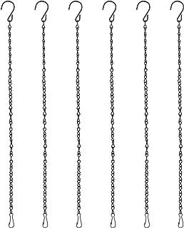iTemer 4 St/ück Blumenampel Ketten H/ängende Edelstahl Kette mit S Haken und Karabiner Ersetztbar f/ür Vogelhaus Vogelfutterhaus Wildvogelfutter Nistkasten Blumenampel Laternen Windlicht mit Henkel