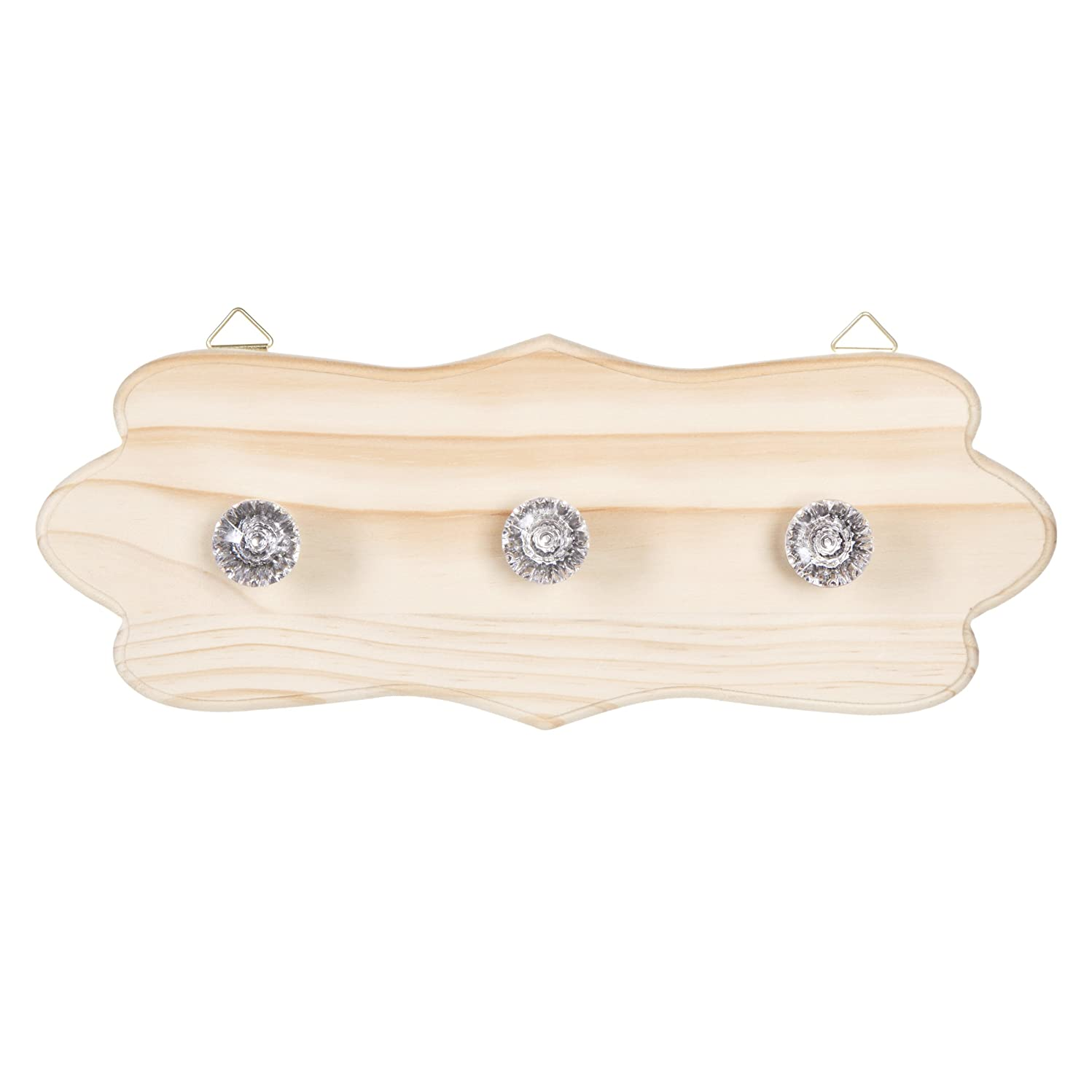 Darice Fancy Wood Plaque with Three Knobs