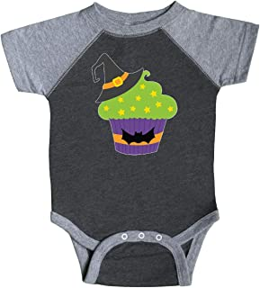 inktastic Cupcake with Black Witch's Hat Infant Creeper