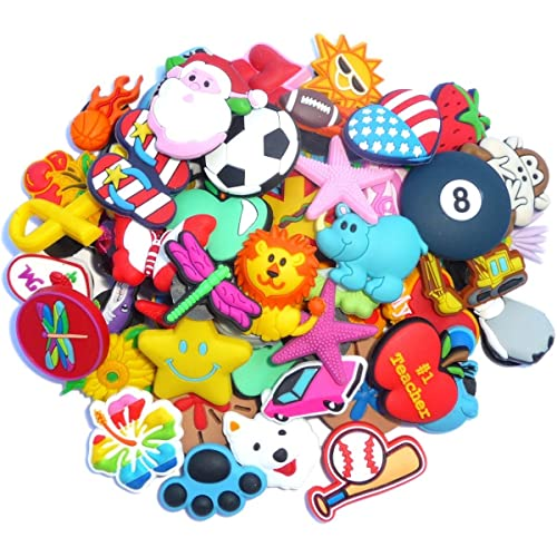 75daa49da 100 Pcs PVC Shoe Charms Fit Crocs   Bands Bracelet and Gifts