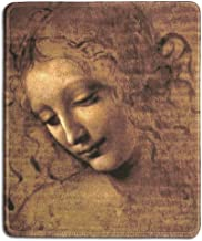 dealzEpic - Art Mousepad - Natural Rubber Mouse Pad with Famous Fine Art Painting of The Head of a Woman (Also Known as La Scapigliata) by Leonardo Da Vinci - Stitched Edges - 9.5x7.9 inches