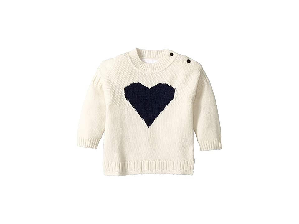 Image of Burberry Kids Heart Top (Infant/Toddler) (Ivory) Girl's Clothing