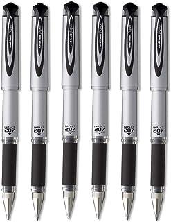 Sanford Uni-ball 207 Impact Stick Rollerball Gel Pen, Bold Point, Black Ink, 6 Pens