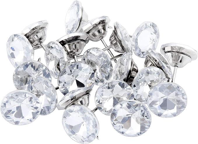 67 opinioni per TsunNee- Set di 60 chiodi per tappezzeria con testa di cristallo, decorazione