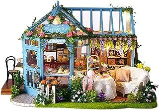 XYZMDJ Kreativa trädockor modellkits, gör-det-själv-stuga heminredning ros trädgård te hus, för barn och spädbarn
