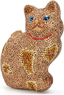 Luxury Crystal Clutch Women Cat Evening Bag