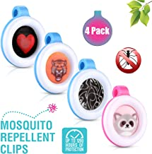 Premium Clip On Mosquito, Bug & Insect Repellent [4-Pack]   Super Cute, Safe & Effective Bug Repeller Clipons   Camping, Hiking, Indoor & Outdoor Protections for 1400 Hours   No Skin Contact