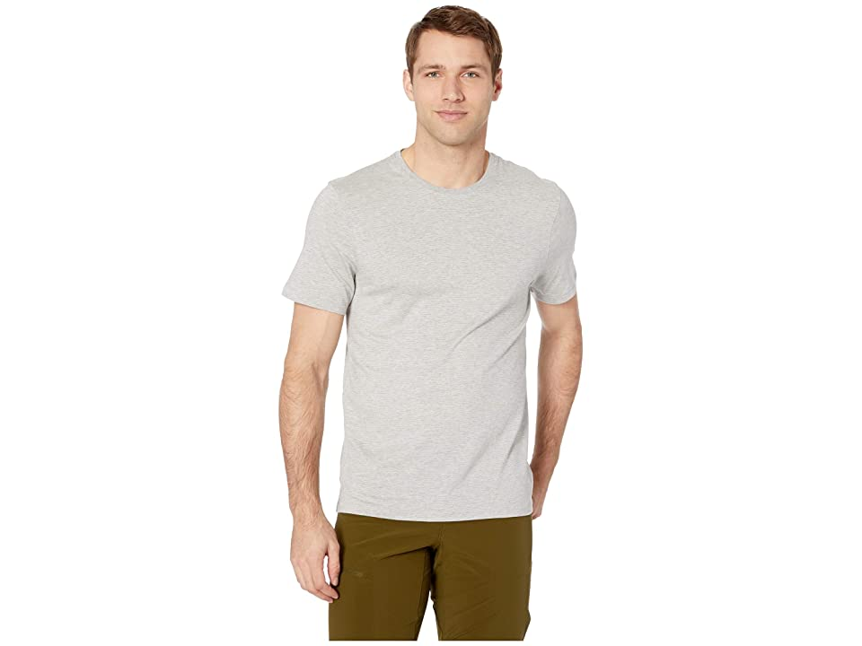 Toad&Co Tempo Short Sleeve Crew (Heather Grey) Men