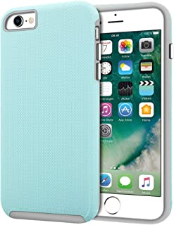 iPhone 6s Case, iPhone 6 Case, Anuck Slim fit Dual Layer Hybrid Shockproof Case Anti-Scratch Hard PC & Soft Rubber Bumper Protective Case Cover with Chromed Silver Buttons for iPhone 6 6s 4.7