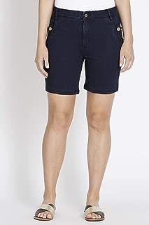 Rockmans Mid Thigh Indigo Wash Denim Short - Womens