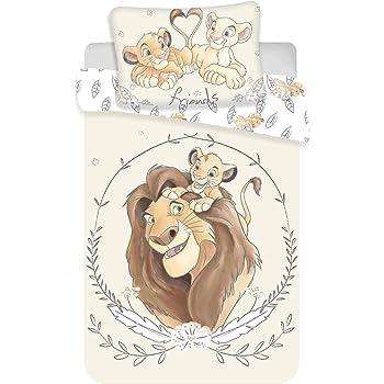 Le Roi Lion Parure de lit Bébé 100x135 cm 100% Coton Simba Mufasa