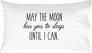 Oh, Susannah May The Moon Kiss You to Sleep Until I Can Pillowcase - Fits Standard Pillow Insert (20x30 inch, Standard/Queen Size Pillow Case, Black) Long Distance Gifts for Him or Her