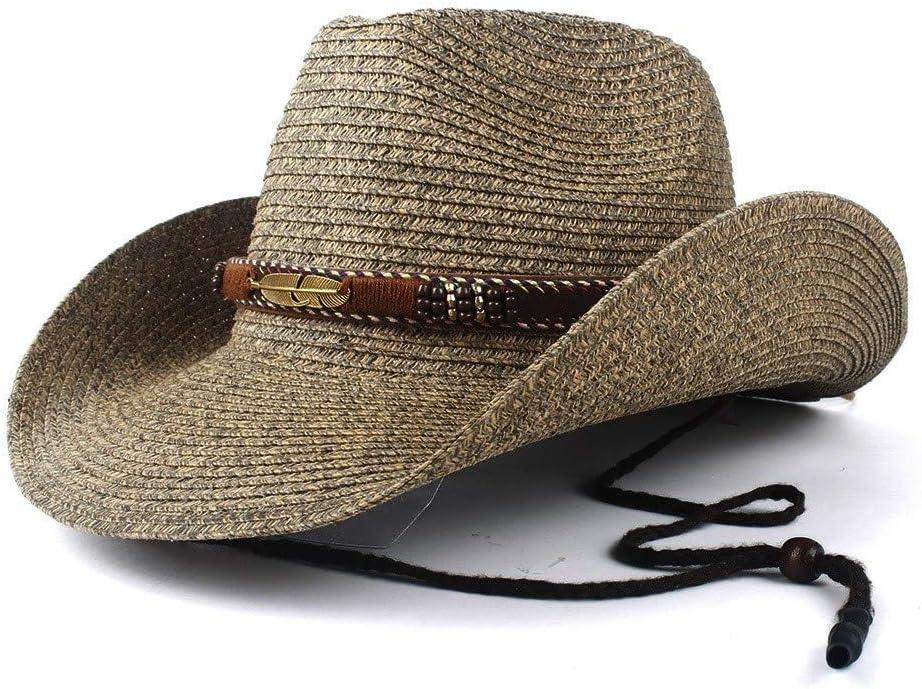 LHZUS Hats Western Cowboy Hat Hollow Ha Fashion Max Ranking TOP19 47% OFF Jazz Beach Straw